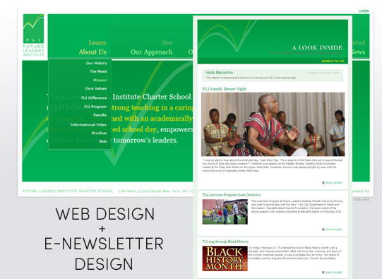 Future Leaders Institute Web Design and E-Newsletter Design
