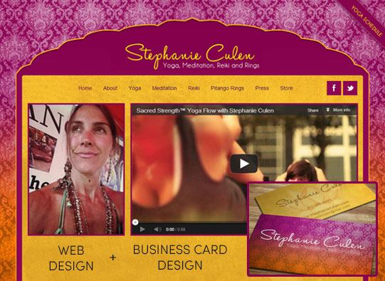 Stephanie Culen Web Site Design and Business Card Design