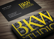BKW Studios Business Card Design