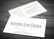 Guthrie Law Office Business Card