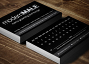 Modern Male Business Card Design