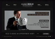 Modern Male Website Design